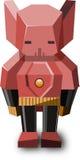 Röd robot med det gula bältet Royaltyfri Fotografi