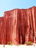 röd rock royaltyfria bilder