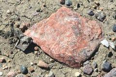 röd rock Arkivbild