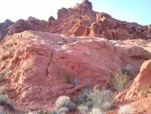 röd rock vegas för kanjonlas royaltyfria bilder