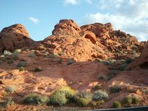 röd rock vegas för kanjonlas fotografering för bildbyråer