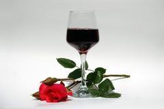 röd rose wine Royaltyfri Fotografi