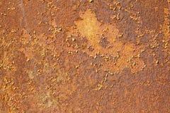 Röd rostig abstrakt textur av gammalt järn Arkivfoton