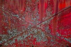 Röd rostig metall Royaltyfria Foton