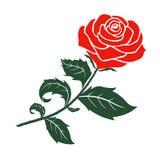 Röd rosvektordesign vektor illustrationer