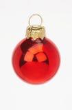 röd rote weihnachtskugel för bolljul arkivbilder