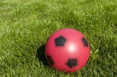 Röd rubber barnboll Arkivfoton