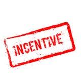 Röd rubber stämpel för incitament som isoleras på vit royaltyfri illustrationer