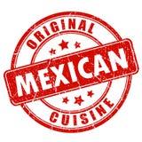 Röd rubber stämpel för mexicansk kokkonst royaltyfri illustrationer