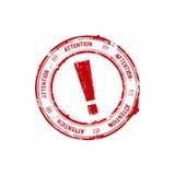 röd rubber stämpel för utropstecken Royaltyfria Bilder