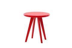 Röd rund tabell Royaltyfria Bilder