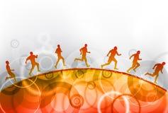 röd running Arkivfoto