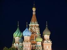 röd russia för moscow natt fyrkant Fotografering för Bildbyråer