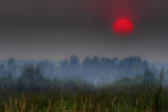 röd russia sun Arkivfoto