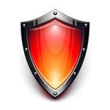 Röd säkerhetssköld royaltyfri illustrationer