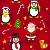 Röd sömlös modell för glad jul Royaltyfri Bild