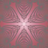 Röd sömlös silver för stjärnamodell Arkivfoto