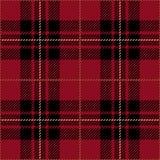 Röd sömlös skotsk modell för tartanpläd Vektor Illustrationer