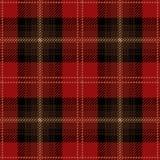 Röd sömlös skotsk modell för tartanpläd Royaltyfri Illustrationer