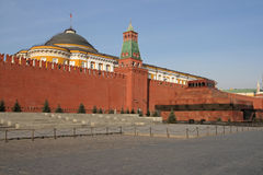 röd s fyrkant för lenin mausoleum Royaltyfria Bilder