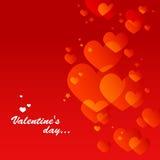 röd s valentin för kortdag Arkivfoton