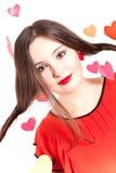 röd s valentinkvinna för dag Arkivbild