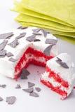 röd sammettårta Royaltyfria Bilder