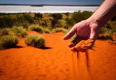 Röd sandhand för vildmark Royaltyfri Foto