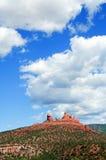 röd sandsten sceniska USA för arizona liggande Arkivbild