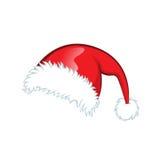 Röd santa hatt Arkivfoto