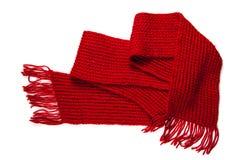 röd scarf Royaltyfri Foto