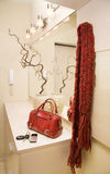 röd scarf Arkivfoton