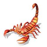 röd scorpion Fotografering för Bildbyråer