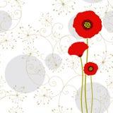röd seamless springtime för abstrakt modellvallmo vektor illustrationer