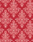 röd seamless vektorwallpaper för classicism Royaltyfri Fotografi