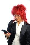 röd sekreterarekvinna för hår Arkivfoto