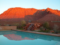 röd semesterort för klippor arkivfoton