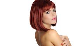 röd sexig kvinna för hårstående Royaltyfri Fotografi