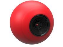 Röd sfärkamera Arkivfoto