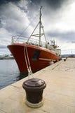 röd ship Royaltyfri Fotografi