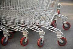 röd shopping Royaltyfri Fotografi