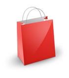 röd shopping för påse Fotografering för Bildbyråer