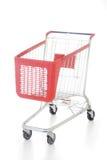 röd shopping för stor vagn Arkivfoton