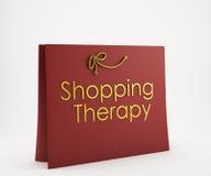 Röd shoppingpåse Royaltyfri Fotografi