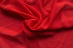 Röd siden- gardin Royaltyfri Foto