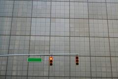 röd signaleringstrafik Arkivbild
