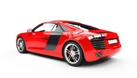 Röd sikt för tillbaka sida för Supercar Royaltyfri Foto