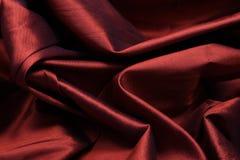 Röd silk royaltyfri bild