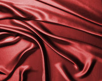 röd silk Arkivbild