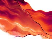 röd silk för flyga Royaltyfri Foto